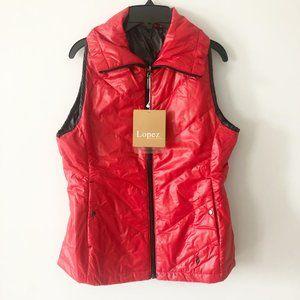 ✨ NWT Reversible Red/Black Vest